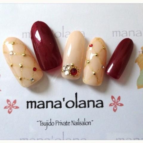 manaolanaさんのバレンタイン,クリスマス,ミディアムネイル♪[1196561] | ネイルブック