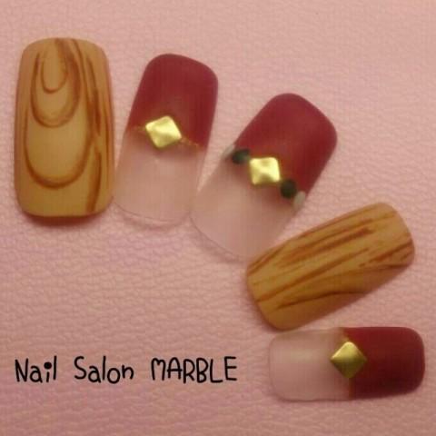 Nail_Salon_MARBLEさんのソフトジェル,ミディアム,ブラウンネイル♪[1156157] | ネイルブック