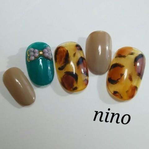 nino_nailさんのソフトジェル,ミディアム,オレンジネイル♪[1181669] | ネイルブック