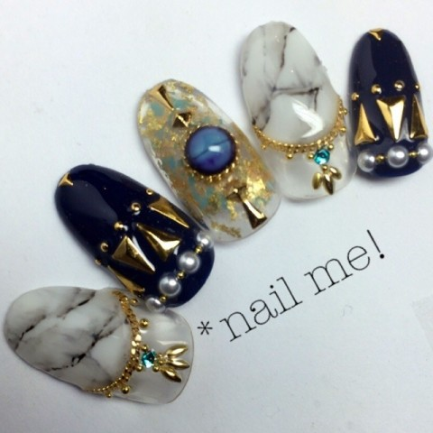 __nail_me__さんのミディアム,アンティーク,ブラックネイル♪[1144626] | ネイルブック