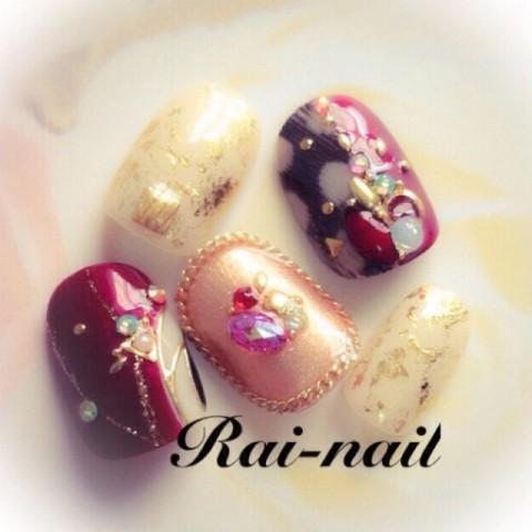 rai_nailさんのバレンタイン,クリスマス,ミディアムネイル♪[1164851] | ネイルブック