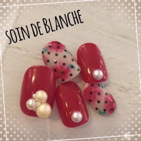 Blancheさんのバレンタイン,クリスマス,ソフトジェルネイル♪[1142780] | ネイルブック