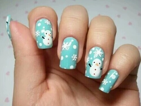christmas, cute, nails - inspiring picture on Favim.com by Emelyne | We Heart It