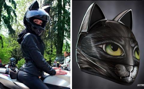 """ニャンだこの可愛さは!?""""猫耳ヘルメット""""が人気に"""