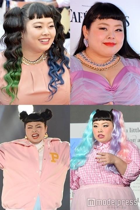 ド派手カラーが似合いすぎ!渡辺直美の髪型&アレンジが\u201c唯一