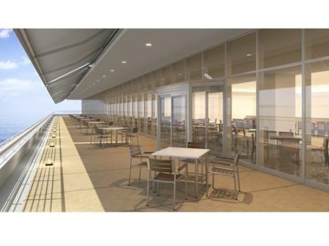 目の前に海が広がるバルコニー席がオープン!「神戸メリケンパークオリエンタルホテル」の絶景レストランでデートしたい♡