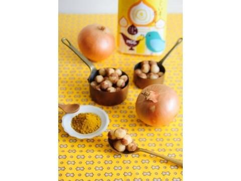 エキマルシェ新大阪限定☆淡路玉葱味の「うぐいすボール」にカレーパウダーをかけて二度楽しめる新作登場