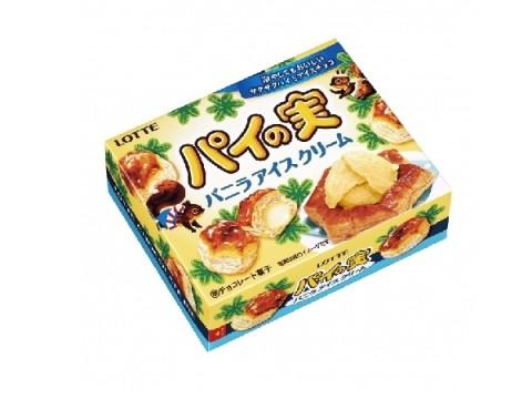 ロッテ「パイの実」に冷やしても美味しい♪バニラアイス味のチョコを包んだ、夏らしいさっぱり味が新発売