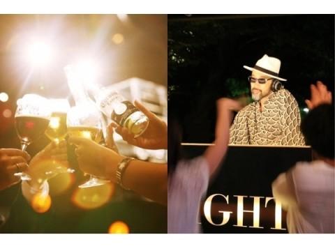 8月5日(火)の一夜限りで、八芳園が洒落たクラブにヘンシン♪ 浴衣を着てシャンパン片手に、音楽に身をゆだねよう!