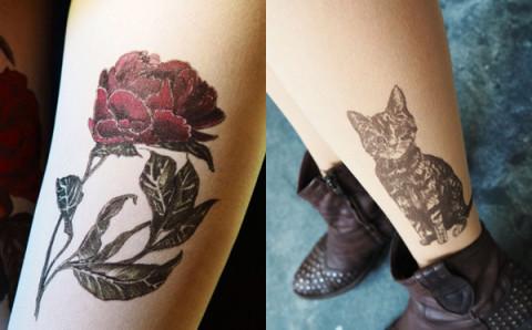めざせ小悪魔風♡二度見するほどリアルなタトゥー柄タイツが欲しい!