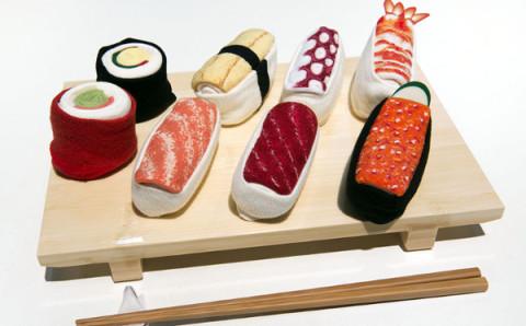 外国のお友達へのプレゼントに…★お寿司デザインのソックスがキュート
