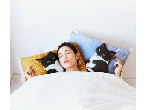 夜が待ち遠しくなりそう!人気猫が添い寝するまくらカバー