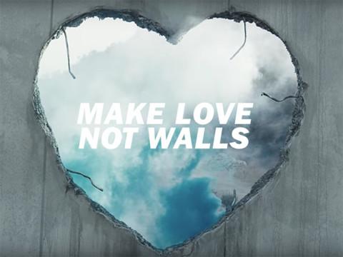 壁ではなく、愛を。DIESELの愛あふれるキャンペーン #MAKELOVENOTWALL