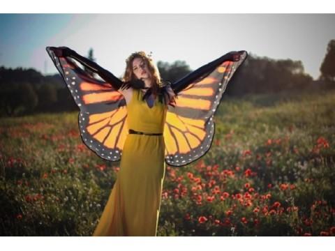透け感が美麗すぎ!本物の蝶の羽みたいなケープ