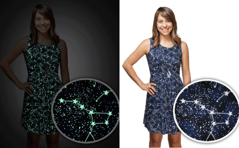 暗いところでも目立ちたい!クラブイベントにもオススメの星座ドレスがかわいい