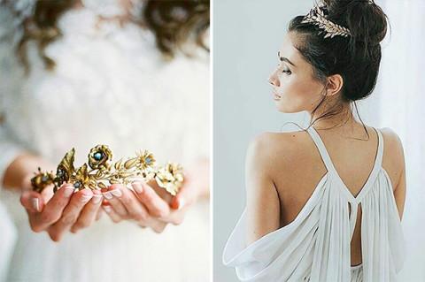プリンセスみたい♡貴重なアンティーク素材を使って作られたヘアピースがステキ