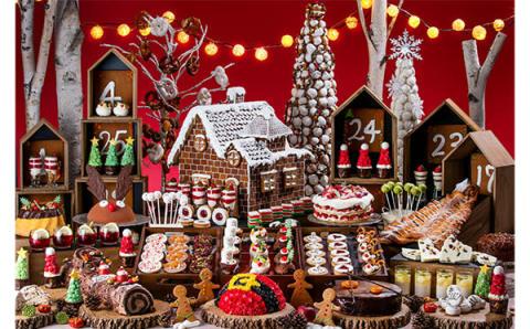 クリスマスマーケットの世界をスイーツで表現♡ヒルトン東京お台場のデザートブッフェが夢のよう!