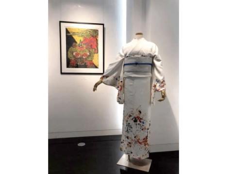 博多織『OKANO』が限定・新作着物「鳳凰の分前」を発表