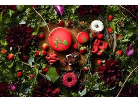 小さな苺の森をイメージしたストロベリースイーツブッフェ