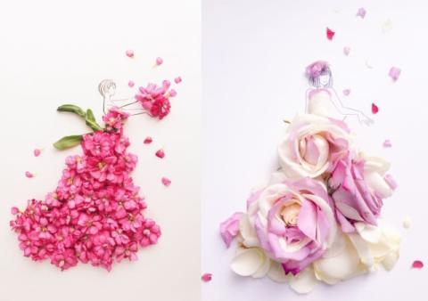 花びらとイラストでつくるはな言葉に癒される人続出鑑賞後の花に新た