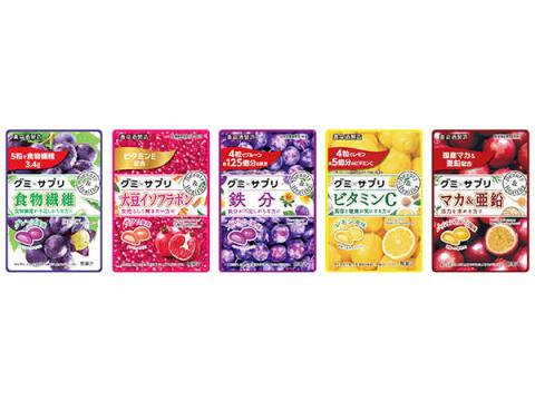 「グミ×サプリ」に食物繊維&大豆イソフラボンが登場!