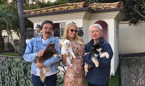 オーランド・ブルーム、パリス・ヒルトンのわんこ撮影に成功!オーランドのわんこ取材は日本メディアでは初!