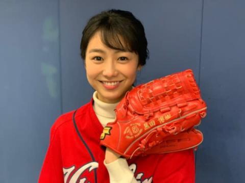 高田夏帆、黒田博樹氏グラブでノーバン投球 カープの必勝祈願「選手たちがまぶしくて…」
