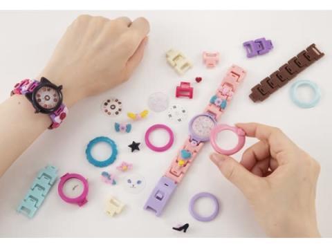 組み合わせ方は無数!自分で作れるキュートな腕時計キット