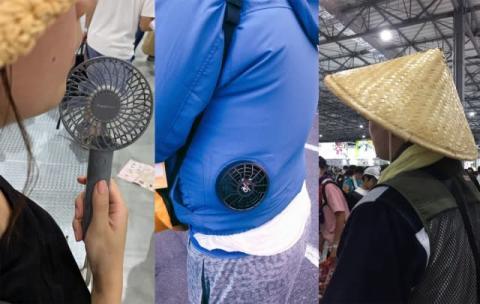【コミケ96】すでに38度超…ファン付きウェアにハンディ扇風機、異彩放つ三度笠、熱気溢れるコミケの暑さ対策とは?