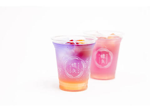 色が変わる不思議なドリンク「オーロラ梅ソーダ」限定発売!