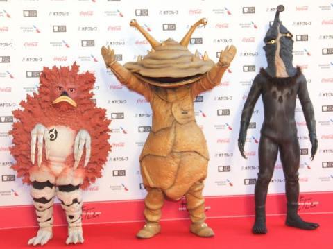 【東京国際映画祭】ウルトラ怪獣登場で騒然 カネゴン&ガラモン&ケムール人が丁寧にファンサービス