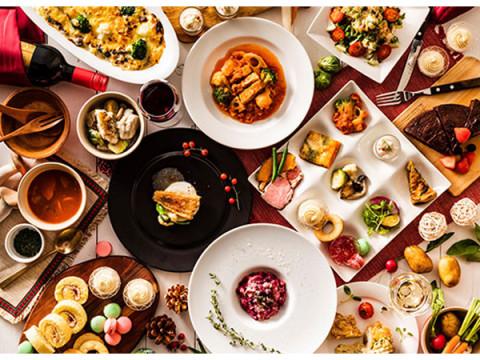 フレンチのメイン料理×旬野菜バイキングを楽しむブッフェ