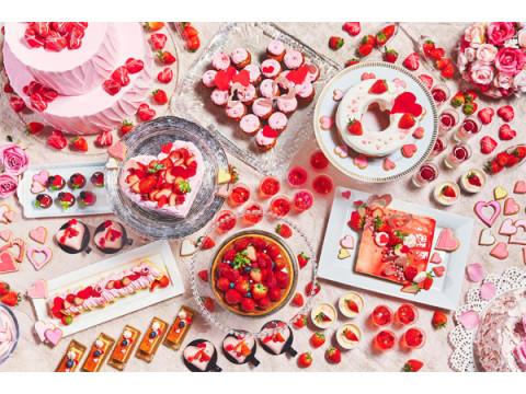 イチゴとハートがいっぱい!ロマンティックなデザートブッフェ