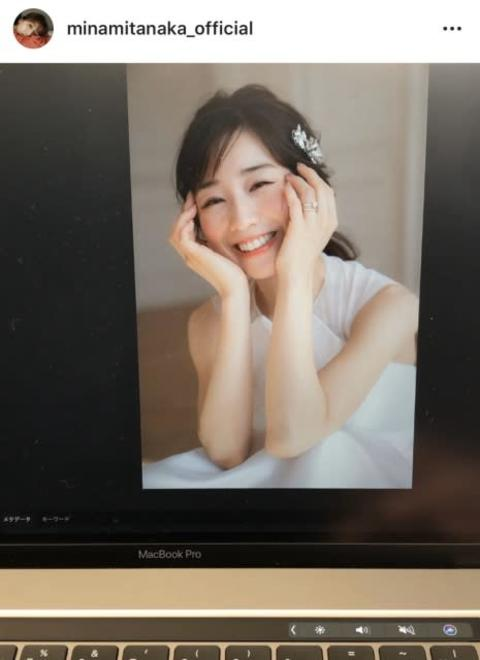 田中みな実、ウエディングドレス姿で透明感 『美人百花』オフショット公開