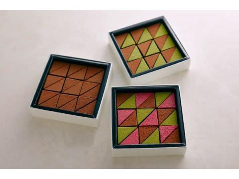 """三角形のモザイク模様が""""粋""""な生チョコレート「THE MOMENT」3種が新登場"""