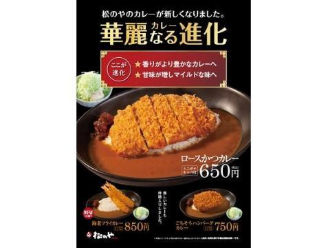 """とんかつ専門店「松のや」のカレーが""""華麗なる進化""""!新メニューも登場"""