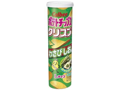 爽やかな香りと辛味が楽しめる!「ポテトチップスクリスプ わさびしお味」