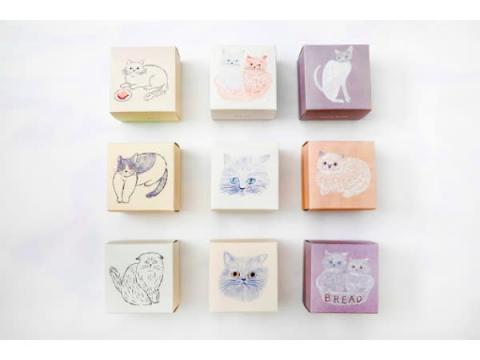 小物入れにも◎!9種のデザインボックスがキュートな「ねこねこクッキー」