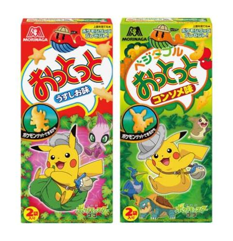 『ポケモン』×『おっとっと』コラボ ピカチュウ、セレビィなど全57種類の菓子型
