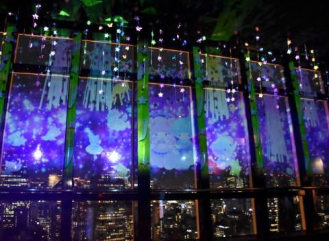 キキ&ララ、夜の東京タワーを彩る プロジェクションマッピングを上映