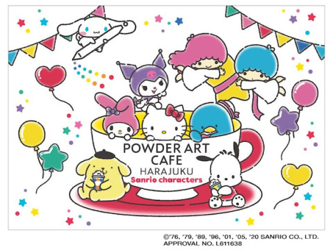 「パウダーアートカフェ原宿」×サンリオキャラのコラボカフェがOPEN!