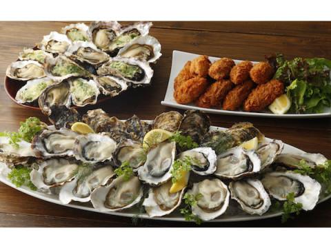 ランチ・ディナーもOK!全6品の牡蠣メニューが楽しめる「真牡蠣食べ放題」