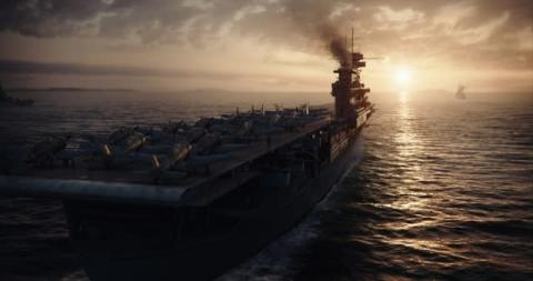 空母エンタープライズ、爆撃機も再現 映画『ミッドウェイ』メイキング映像