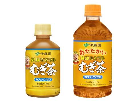 レンジ加温可能なペットボトルも登場!ホット対応「健康ミネラルむぎ茶」