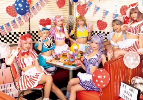 えなこ所属の美女集団「PPエンタープライズ」8人集結でカラフル&セクシーパーティ