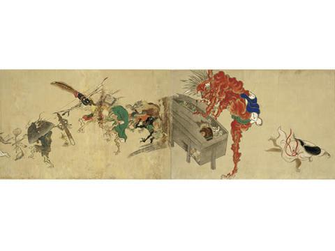 妖怪たちが行進!現存最古の『百鬼夜行絵巻』京都「真珠庵」で寺内初公開