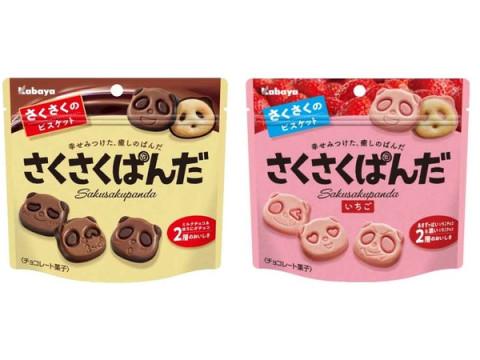 ぱんだの形のかわいいチョコビスケット「さくさくぱんだ」がリニューアル!