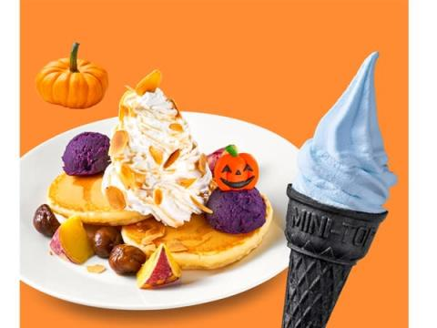 黒コーンの青いソフトクリームも登場!「イケア」のハロウィン限定フード