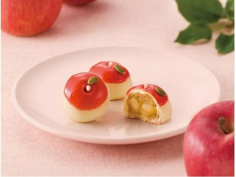 """秋の贈り物にぴったり!見た目も味も""""りんご""""のような焼きまんじゅうが登場"""