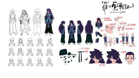 アニメ映画『羅小黒戦記』設定資料が公開 キャラの顔パーツ、衣装など